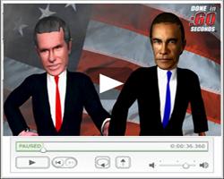 3D virtual character avatar video