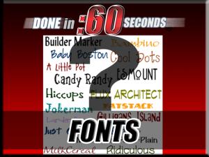 video titles type font